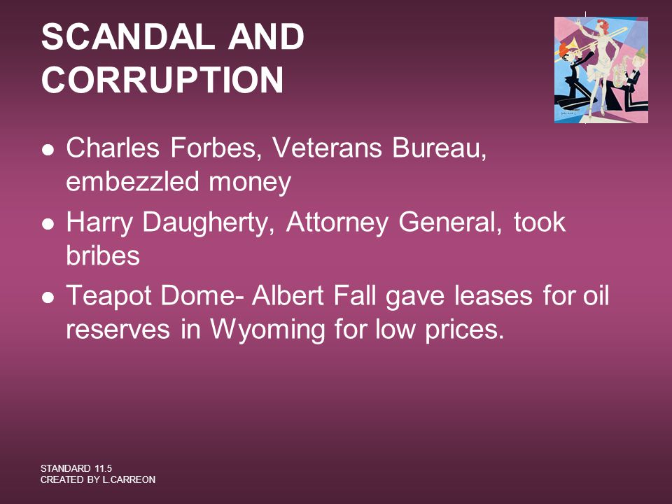 SCANDAL AND CORRUPTION