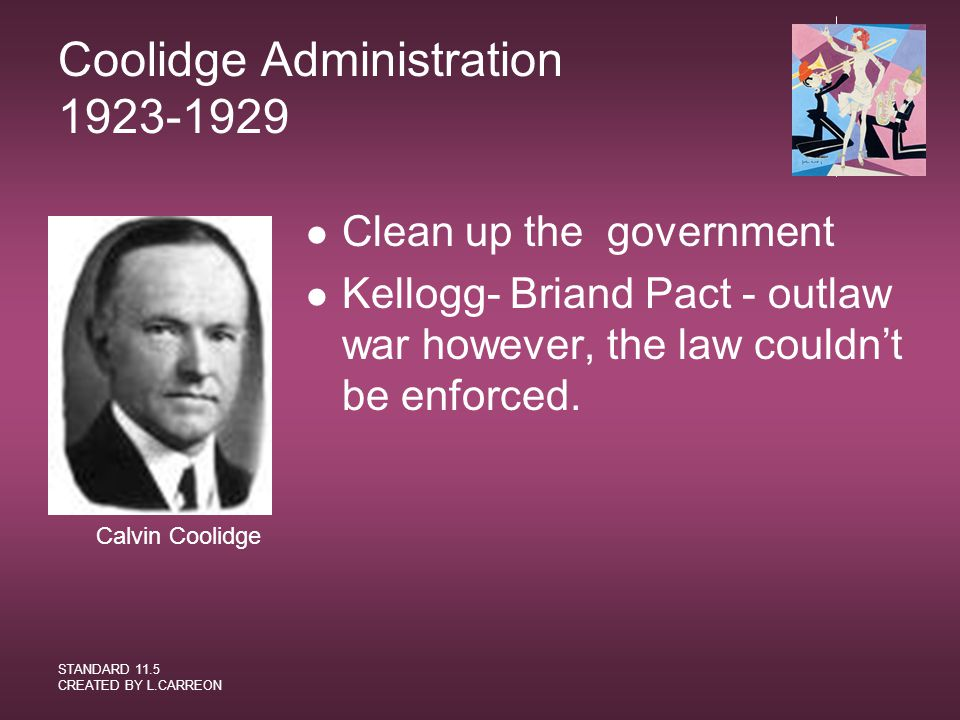 Coolidge Administration 1923-1929
