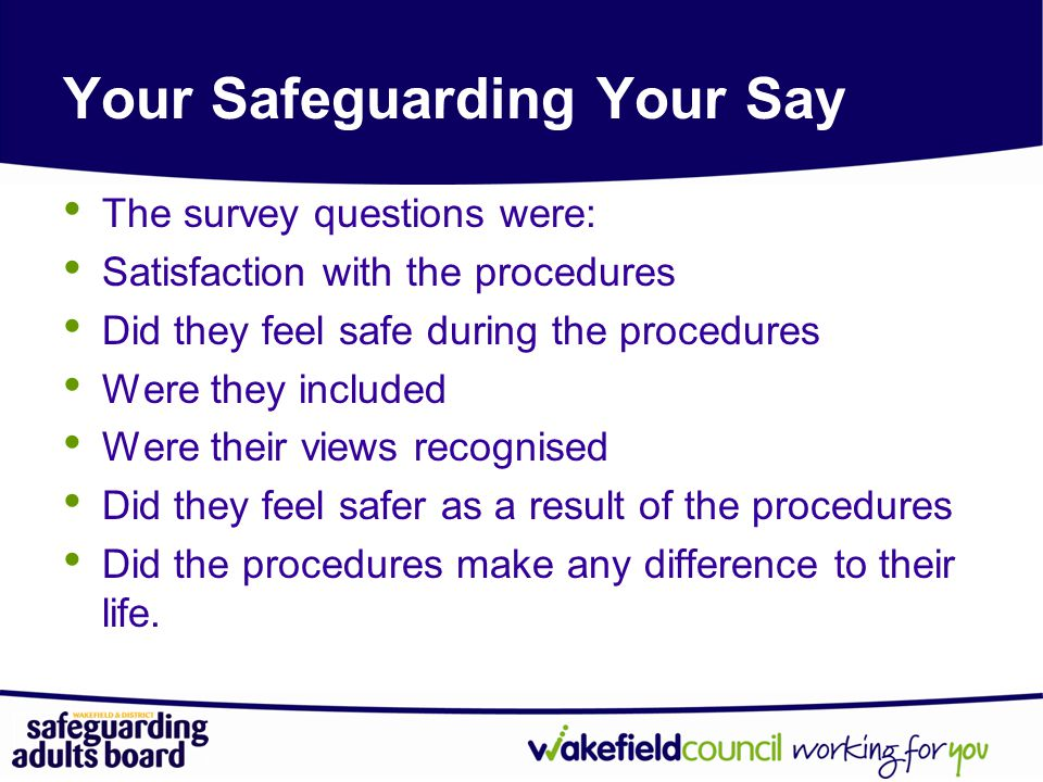 Your Safeguarding Your Say