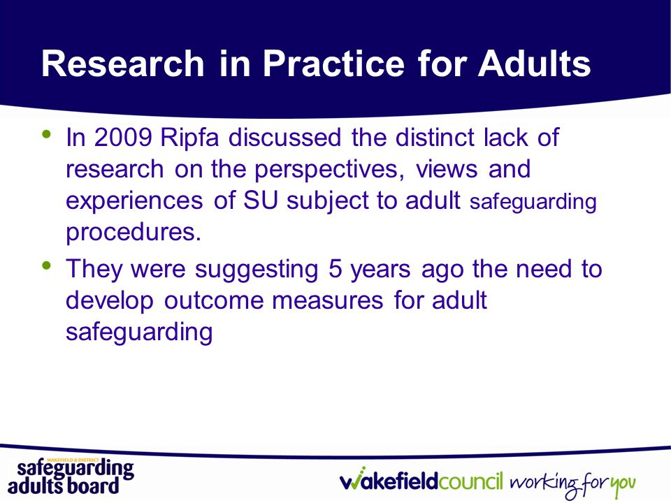 Research in Practice for Adults