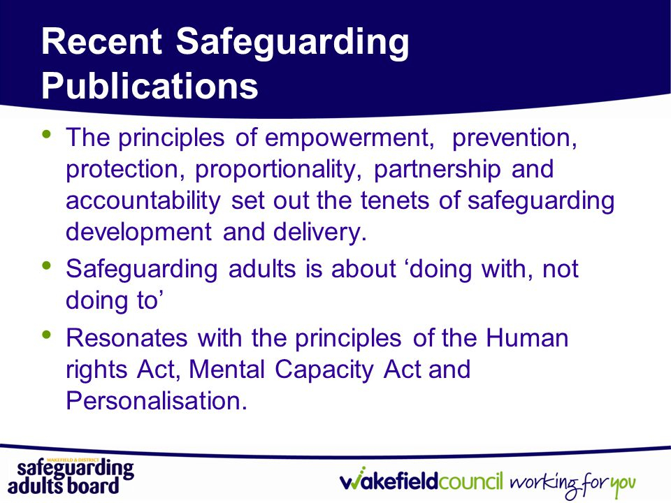 Recent Safeguarding Publications