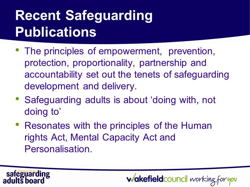 Recent Safeguarding Publications