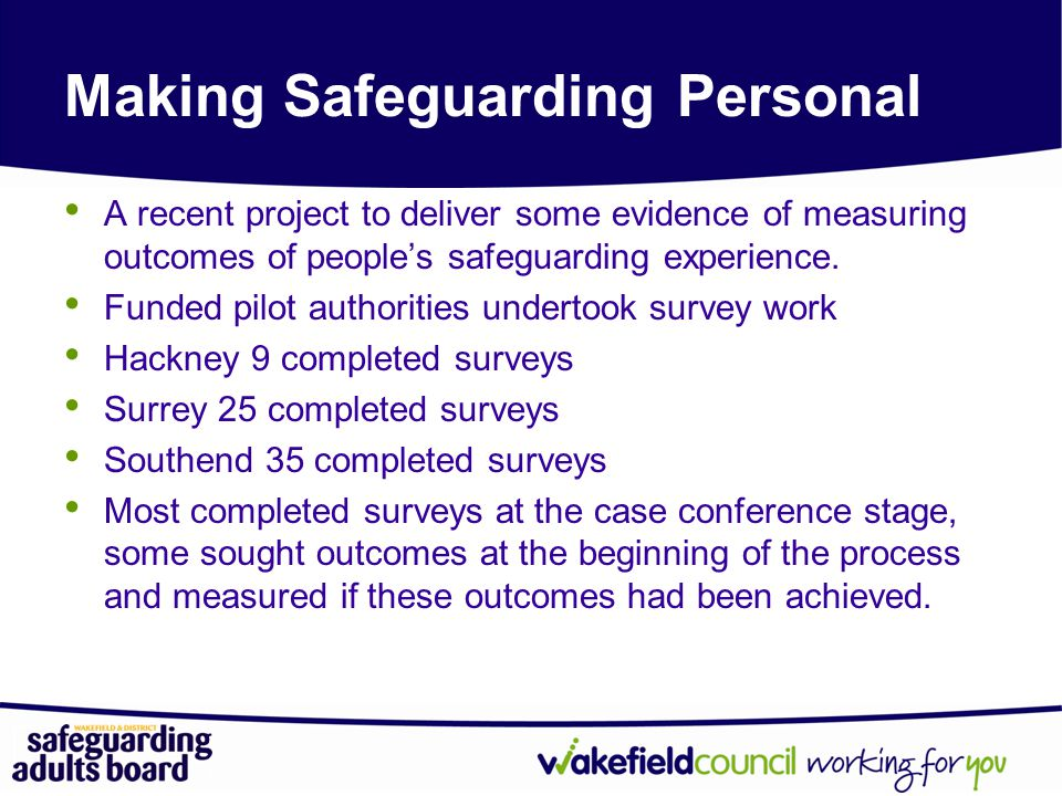 Making Safeguarding Personal