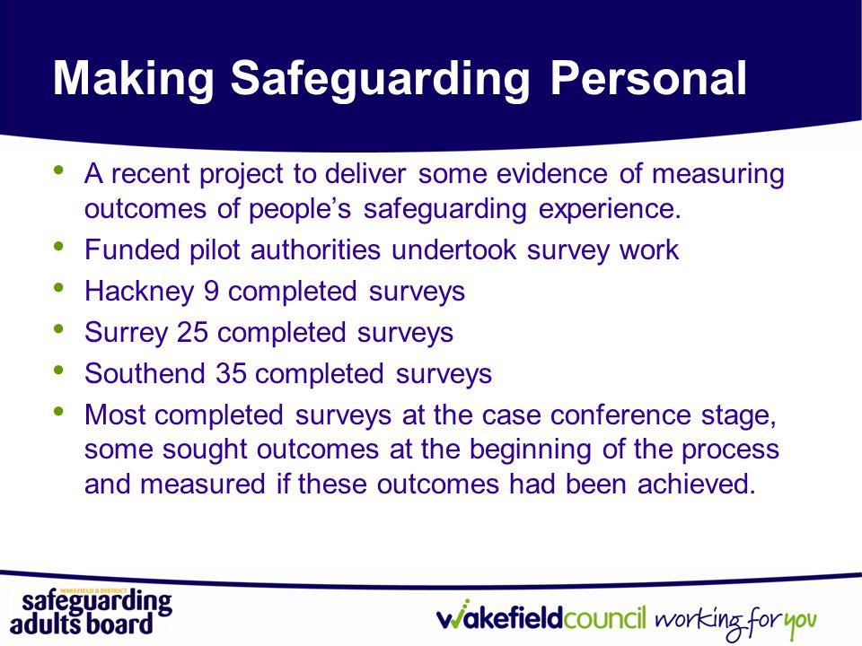 Making Safeguarding Personal