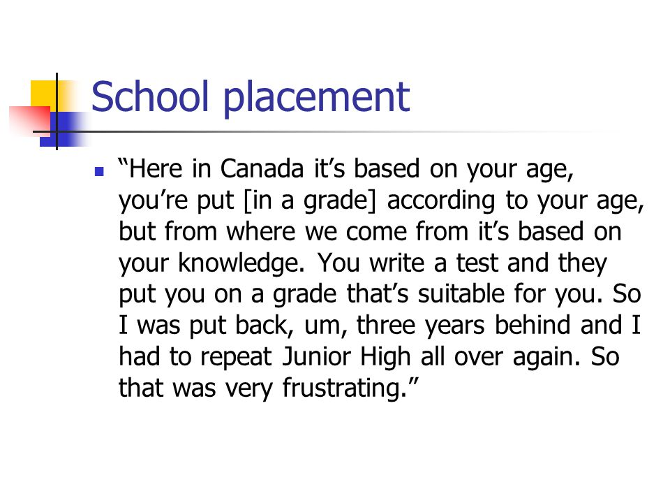 School placement