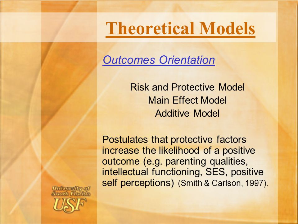 Risk and Protective Model