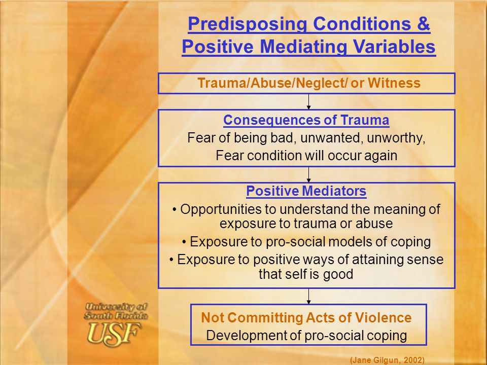 Predisposing Conditions & Positive Mediating Variables