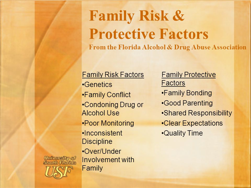 Family Risk & Protective Factors From the Florida Alcohol & Drug Abuse Association