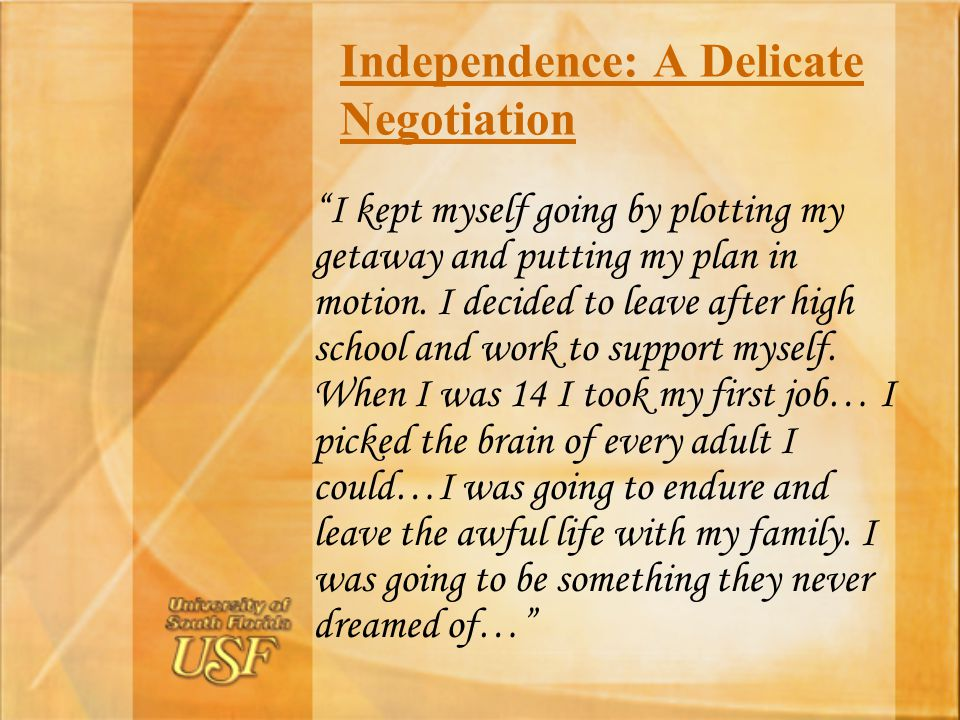 Independence: A Delicate Negotiation