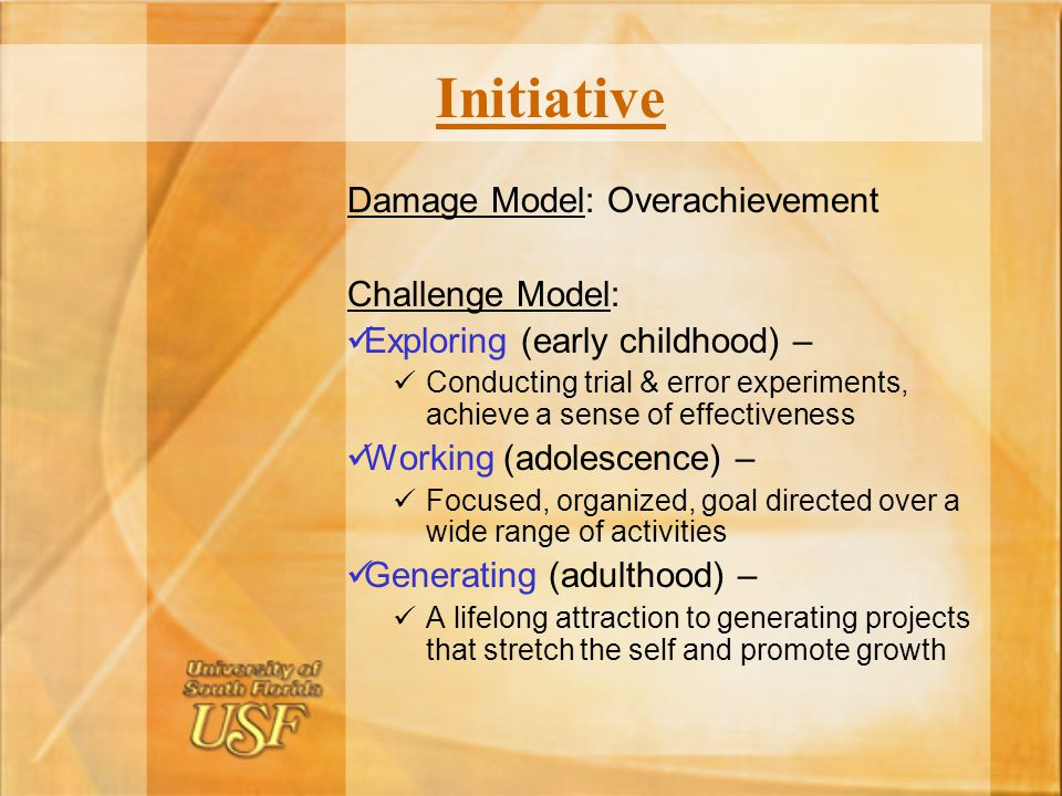 Initiative Damage Model: Overachievement Challenge Model: