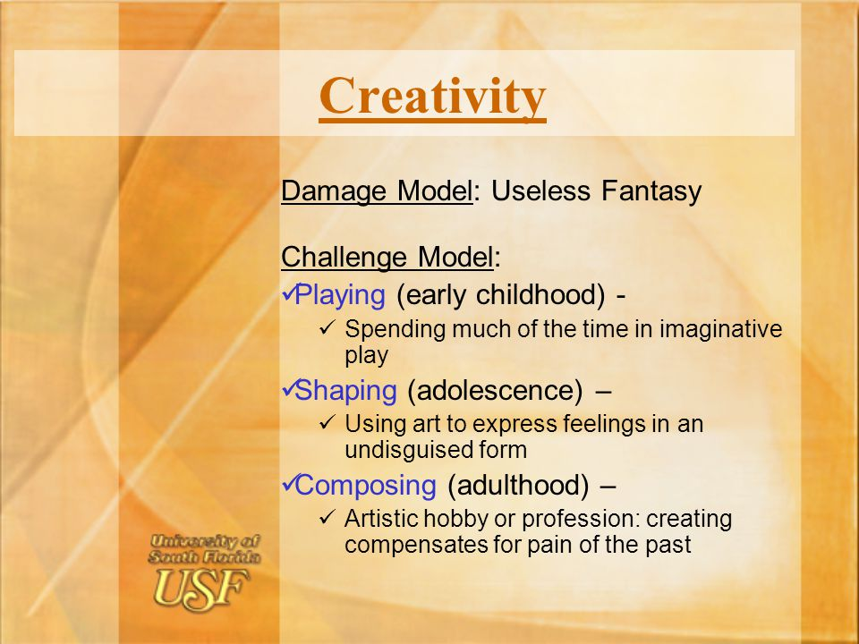 Creativity Damage Model: Useless Fantasy Challenge Model: