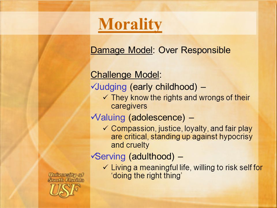 Morality Damage Model: Over Responsible Challenge Model: