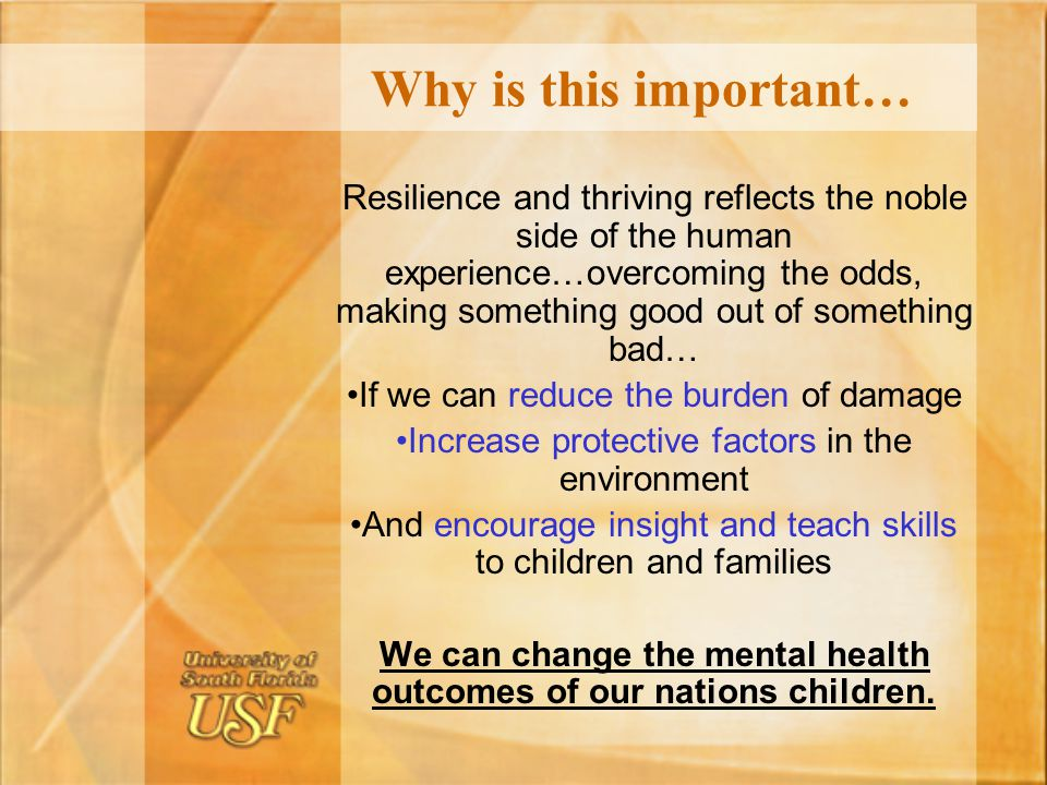 We can change the mental health outcomes of our nations children.