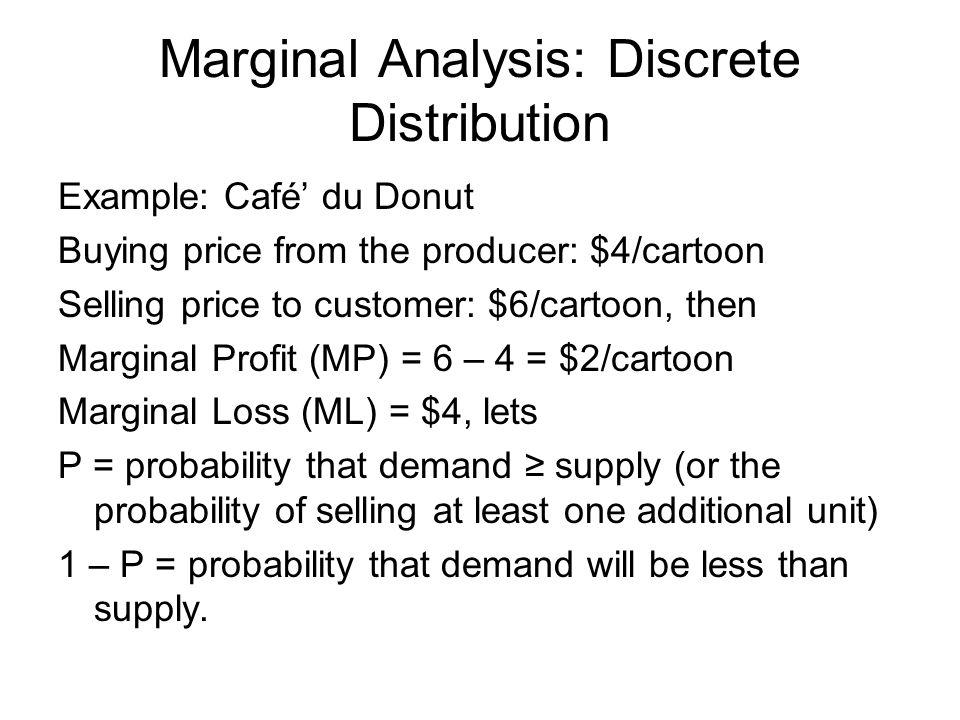 Marginal Analysis: Discrete Distribution