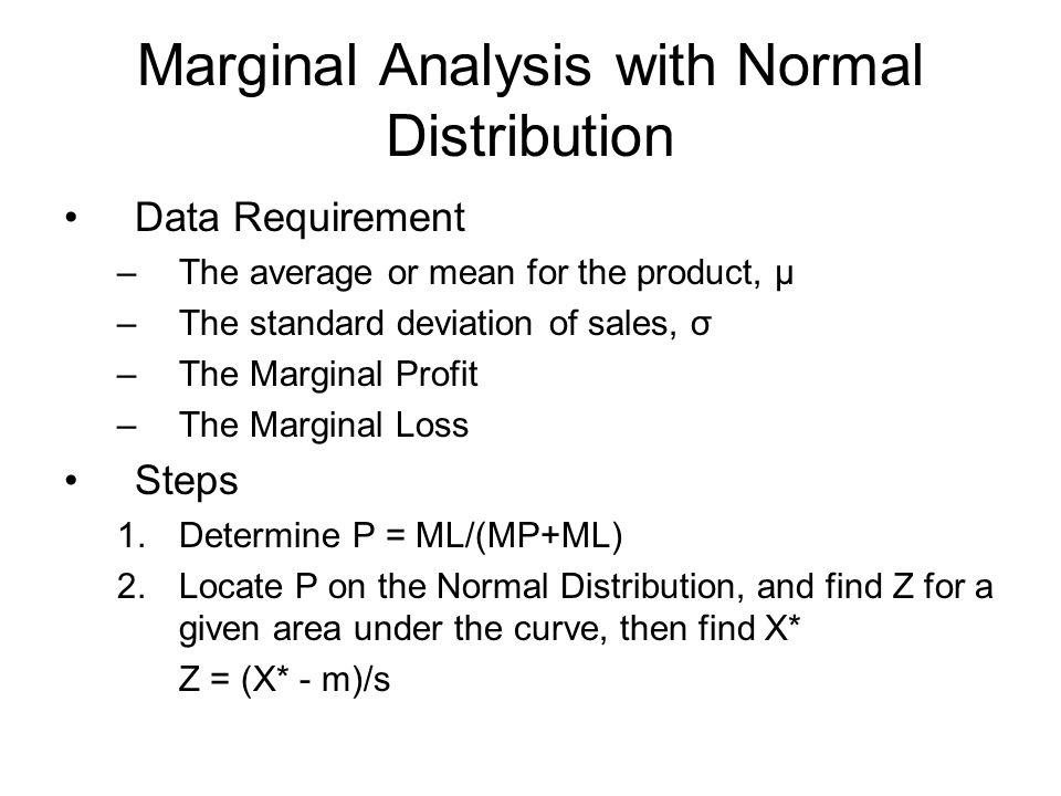 Marginal Analysis with Normal Distribution