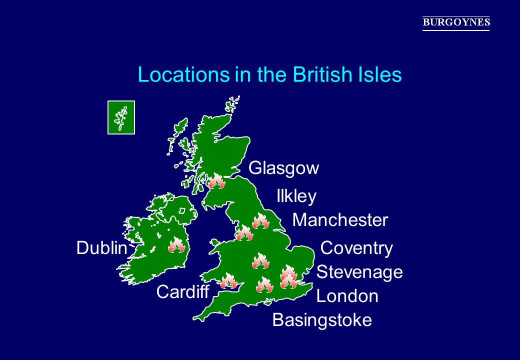 Locations in the British Isles