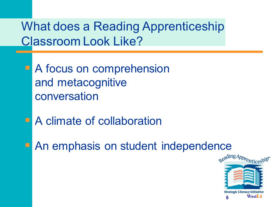 What does a Reading Apprenticeship Classroom Look Like