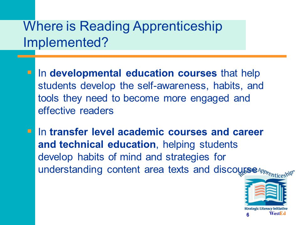 Where is Reading Apprenticeship Implemented