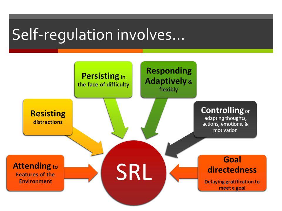 Self-regulation involves…