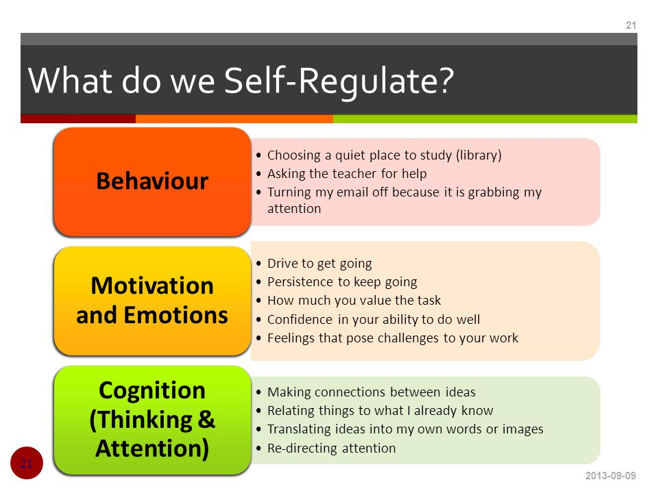What do we Self-Regulate