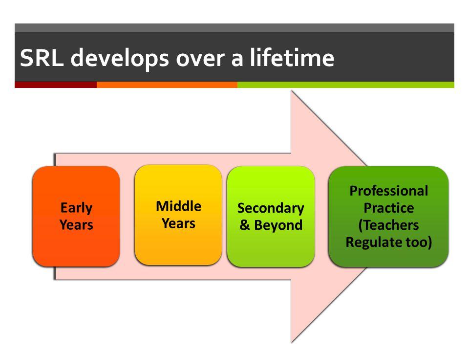 SRL develops over a lifetime
