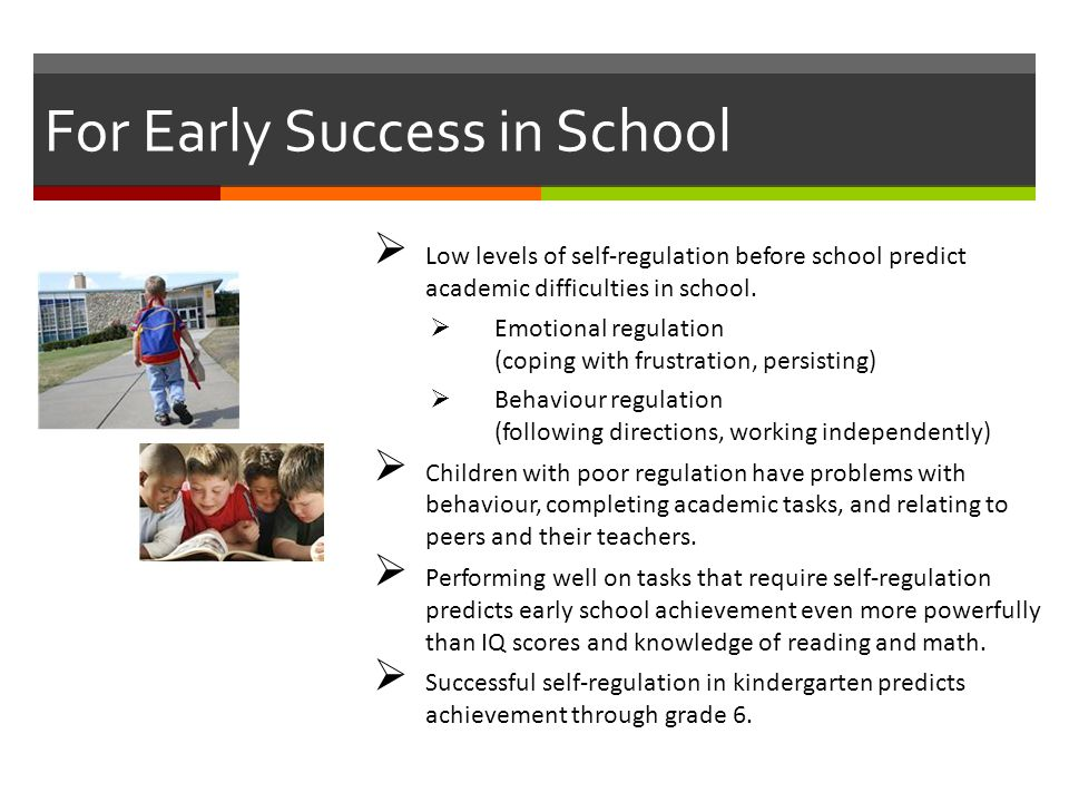 For Early Success in School