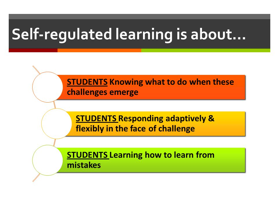 Self-regulated learning is about…