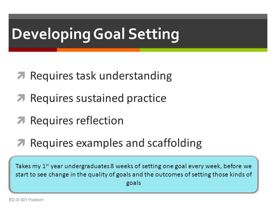 Developing Goal Setting