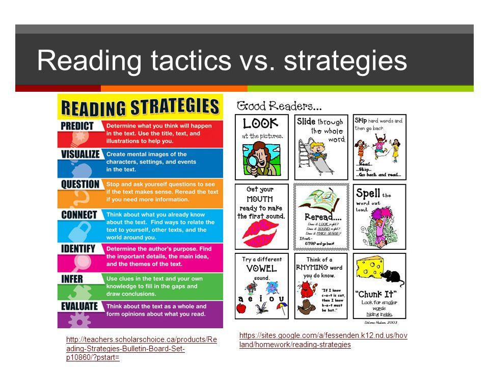 Reading tactics vs. strategies