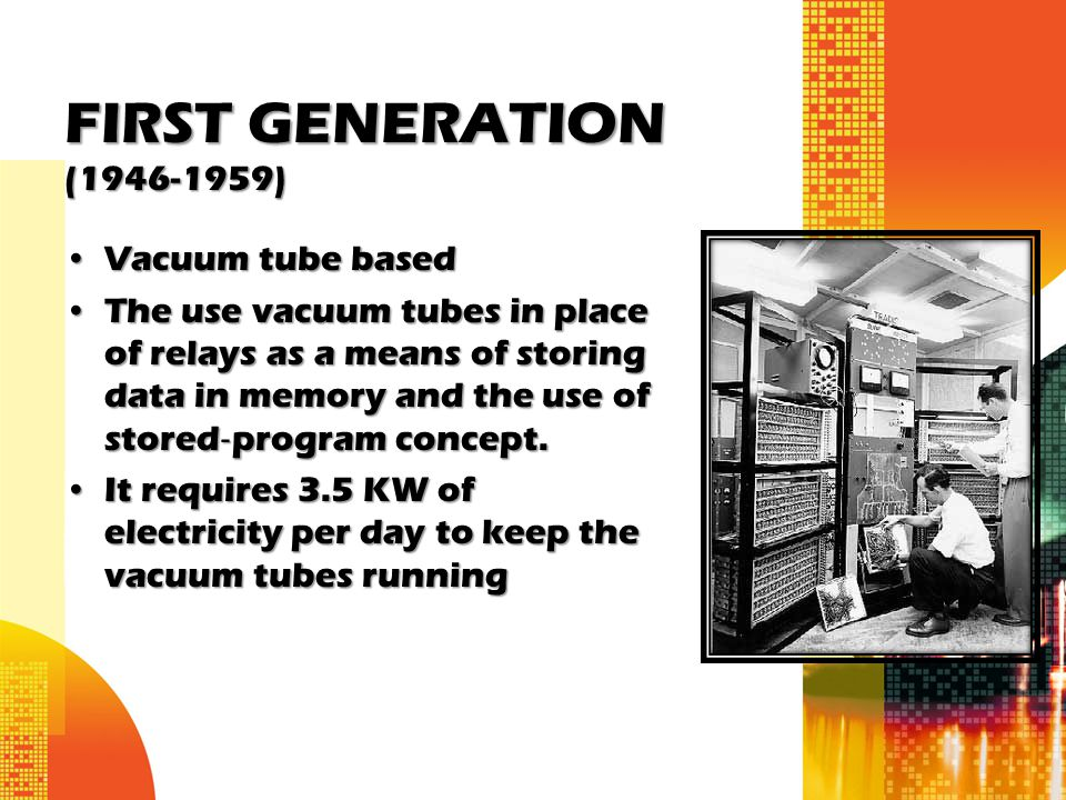 FIRST GENERATION (1946-1959) Vacuum tube based