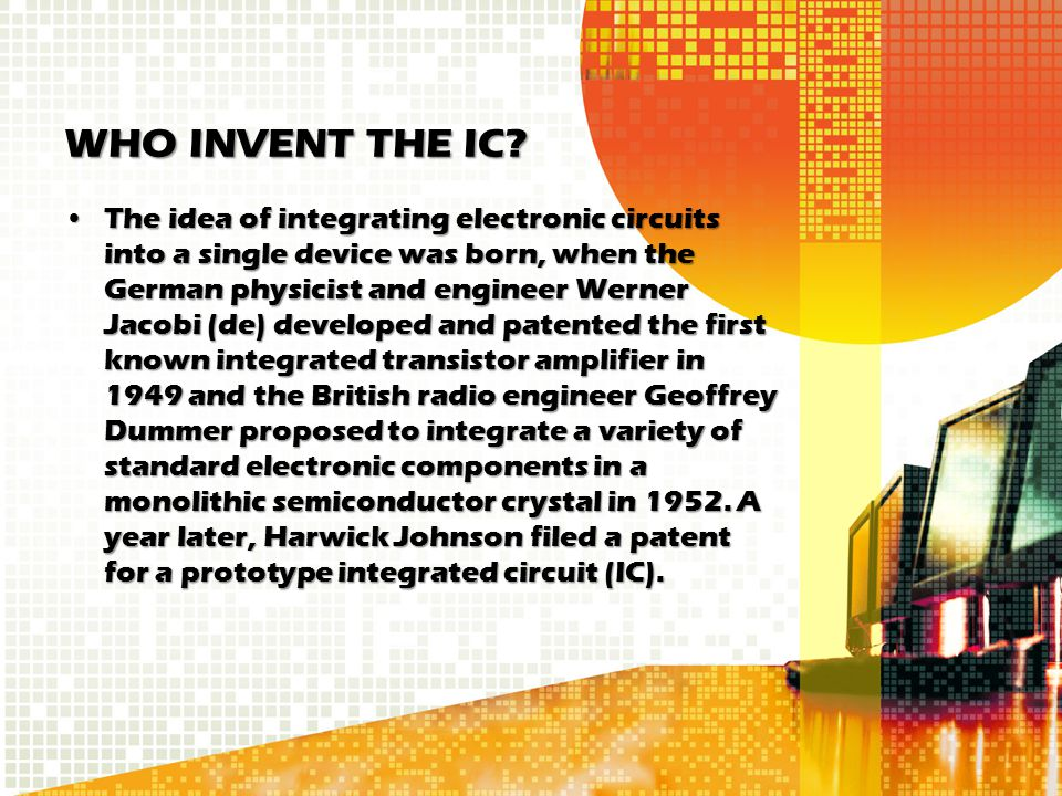 WHO INVENT THE IC