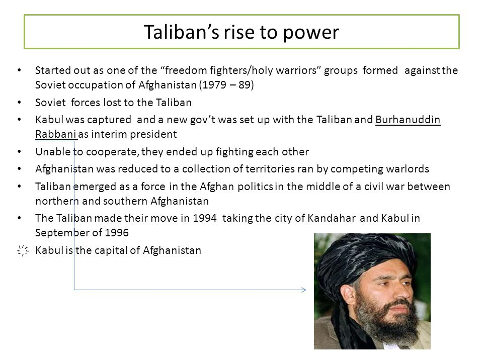 Taliban's rise to power