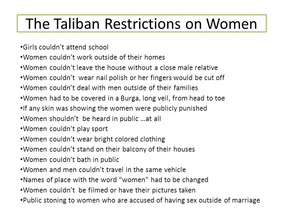the taliban by shanderra garvin ppt video online  the taliban restrictions on women