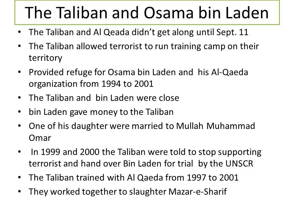 The Taliban and Osama bin Laden