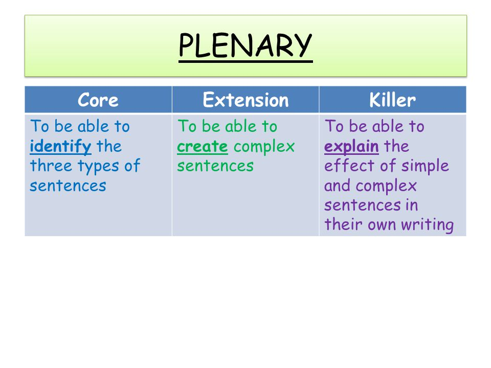 PLENARY Core Extension Killer