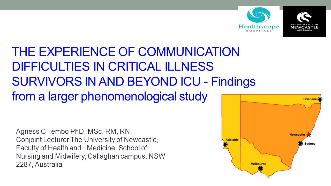 THE EXPERIENCE OF COMMUNICATION DIFFICULTIES IN CRITICAL ILLNESS SURVIVORS IN AND BEYOND ICU - Findings from a larger phenomenological study