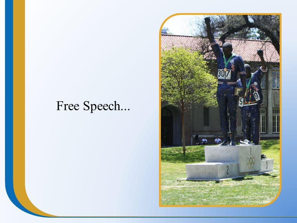 Free Speech...