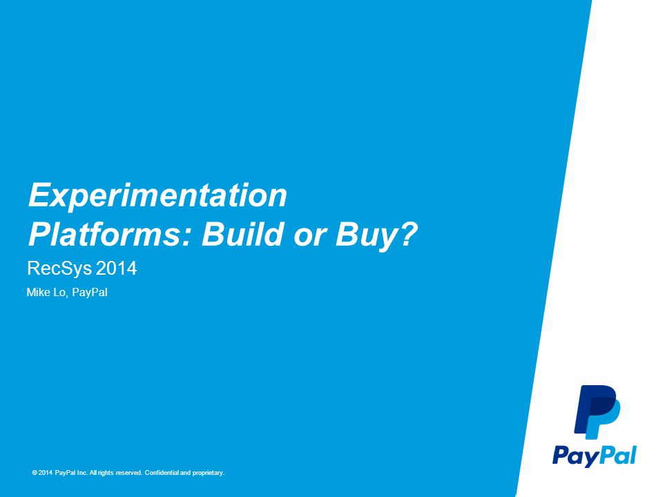 Experimentation Platforms: Build or Buy