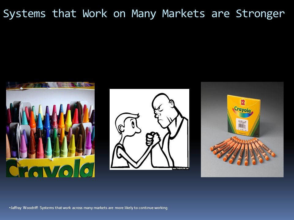 Systems that Work on Many Markets are Stronger