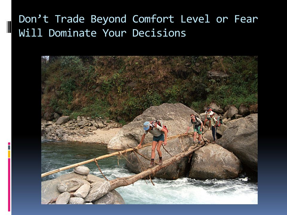 Don't Trade Beyond Comfort Level or Fear Will Dominate Your Decisions