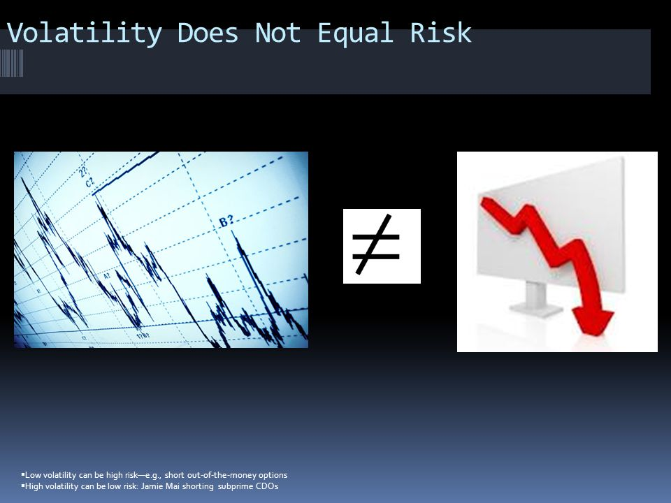 Volatility Does Not Equal Risk