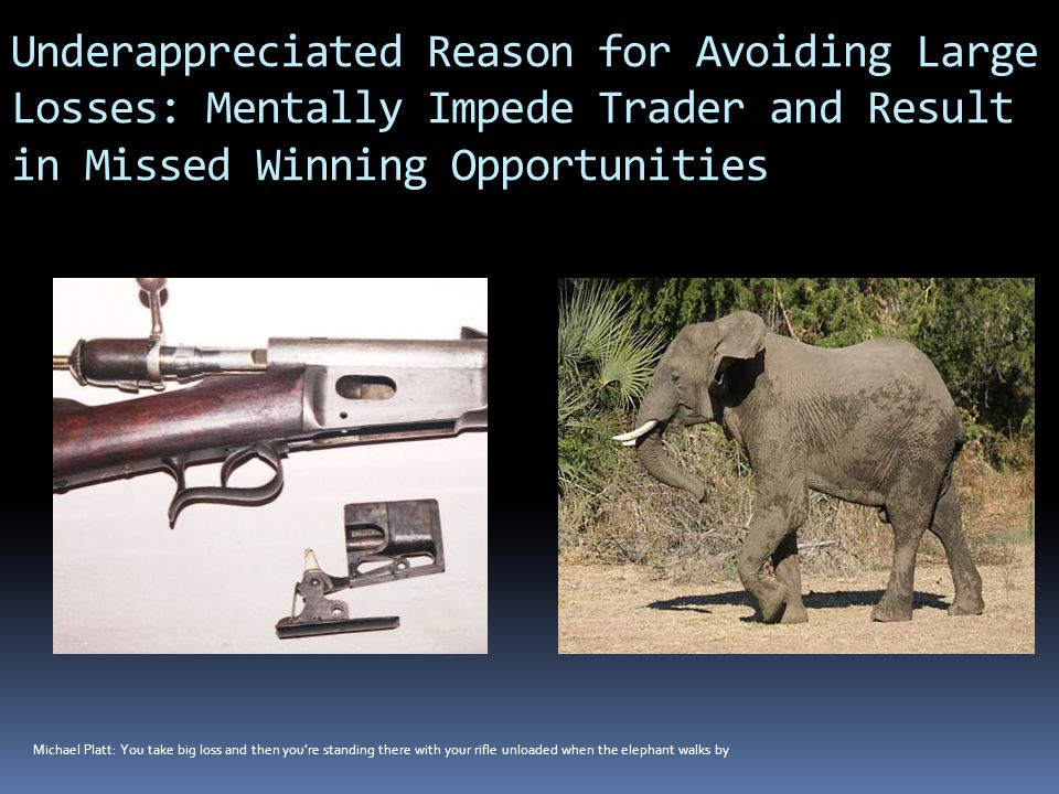 Underappreciated Reason for Avoiding Large Losses: Mentally Impede Trader and Result in Missed Winning Opportunities