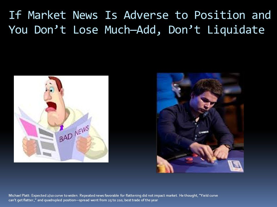 If Market News Is Adverse to Position and You Don't Lose Much—Add, Don't Liquidate