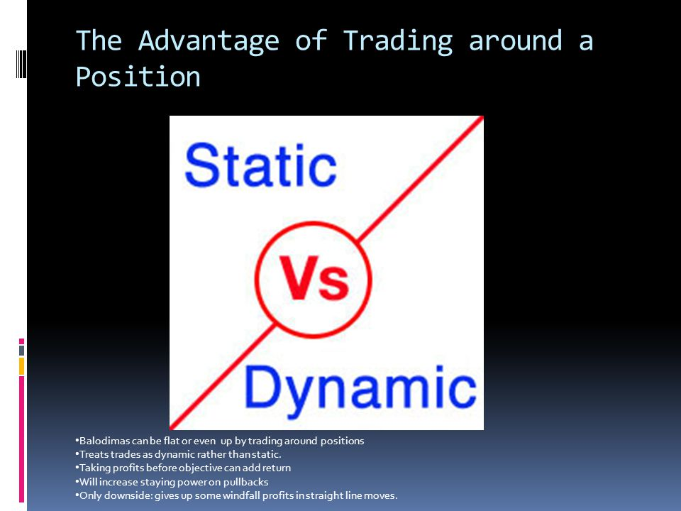 The Advantage of Trading around a Position