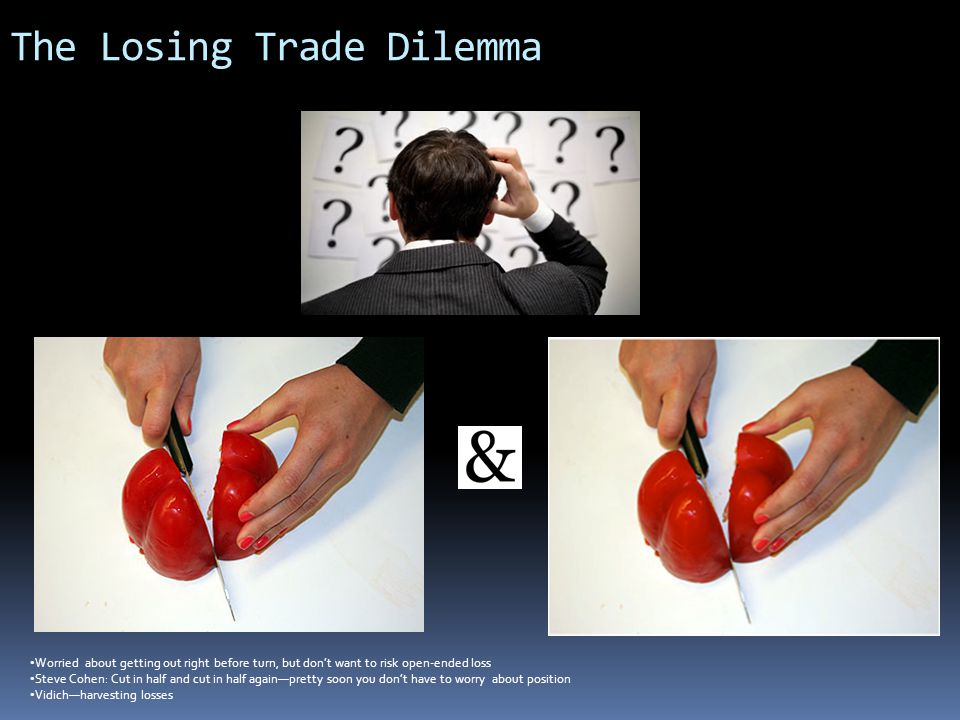 The Losing Trade Dilemma