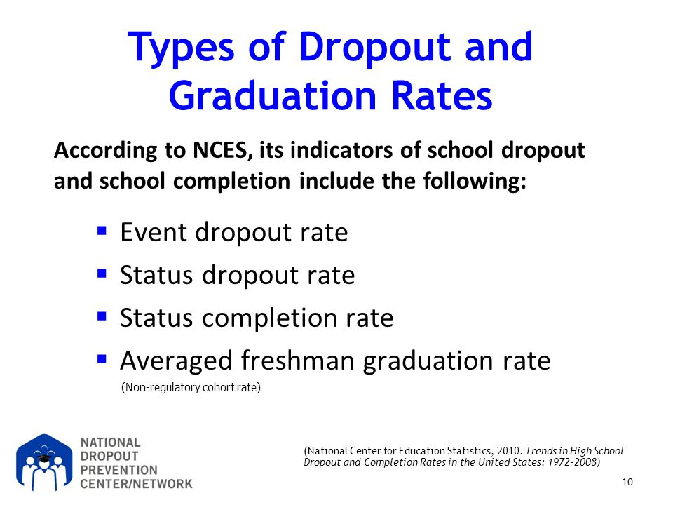 Types of Dropout and Graduation Rates