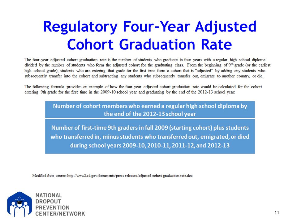 Regulatory Four-Year Adjusted Cohort Graduation Rate