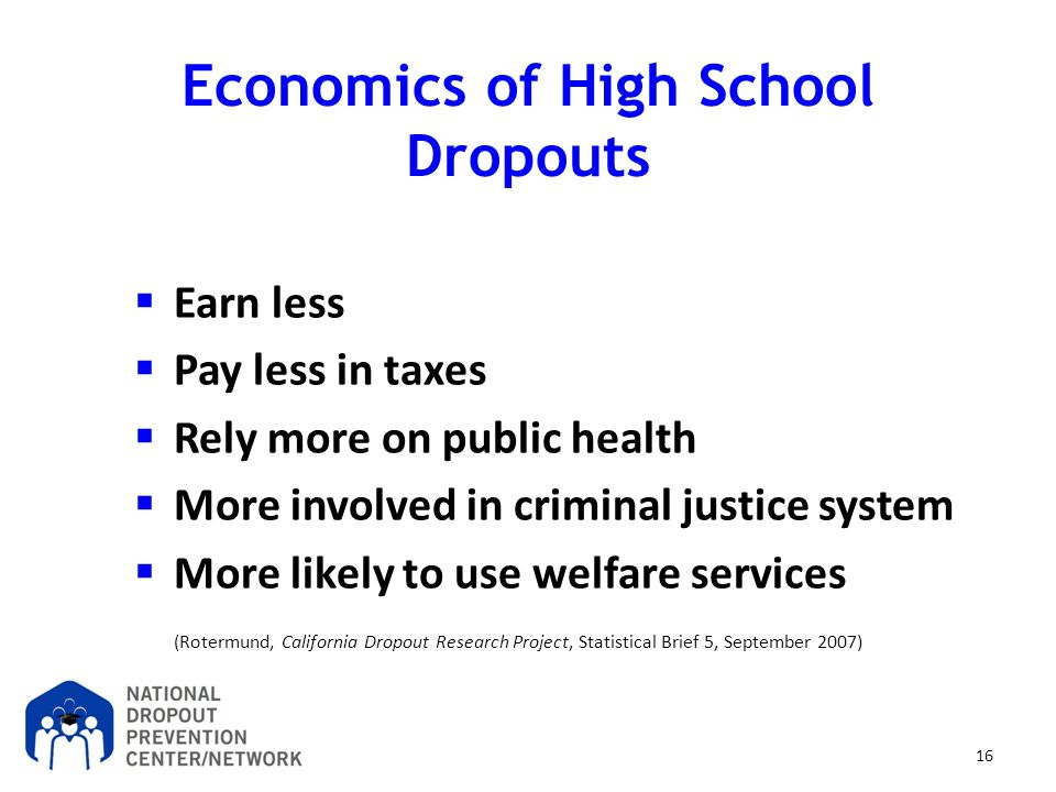 Economics of High School Dropouts