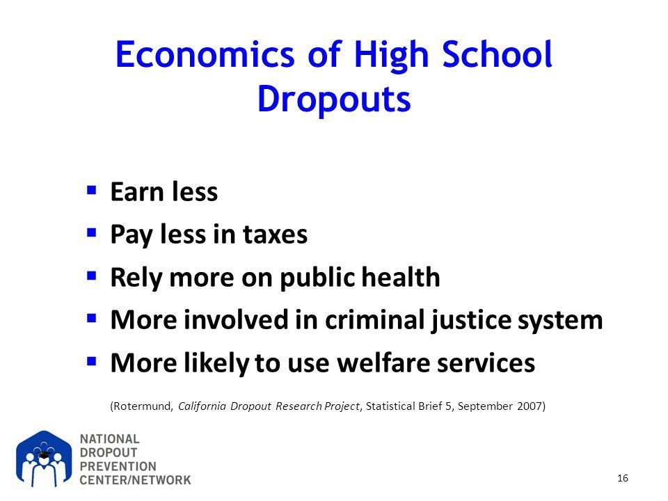 Economics of High School Dropouts