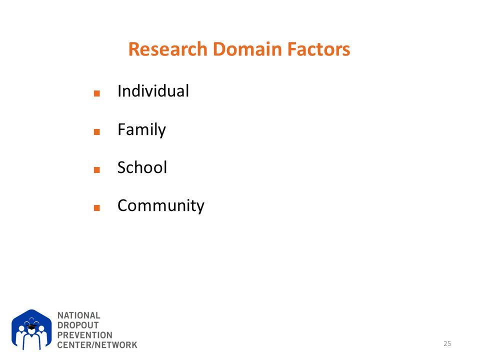 Research Domain Factors